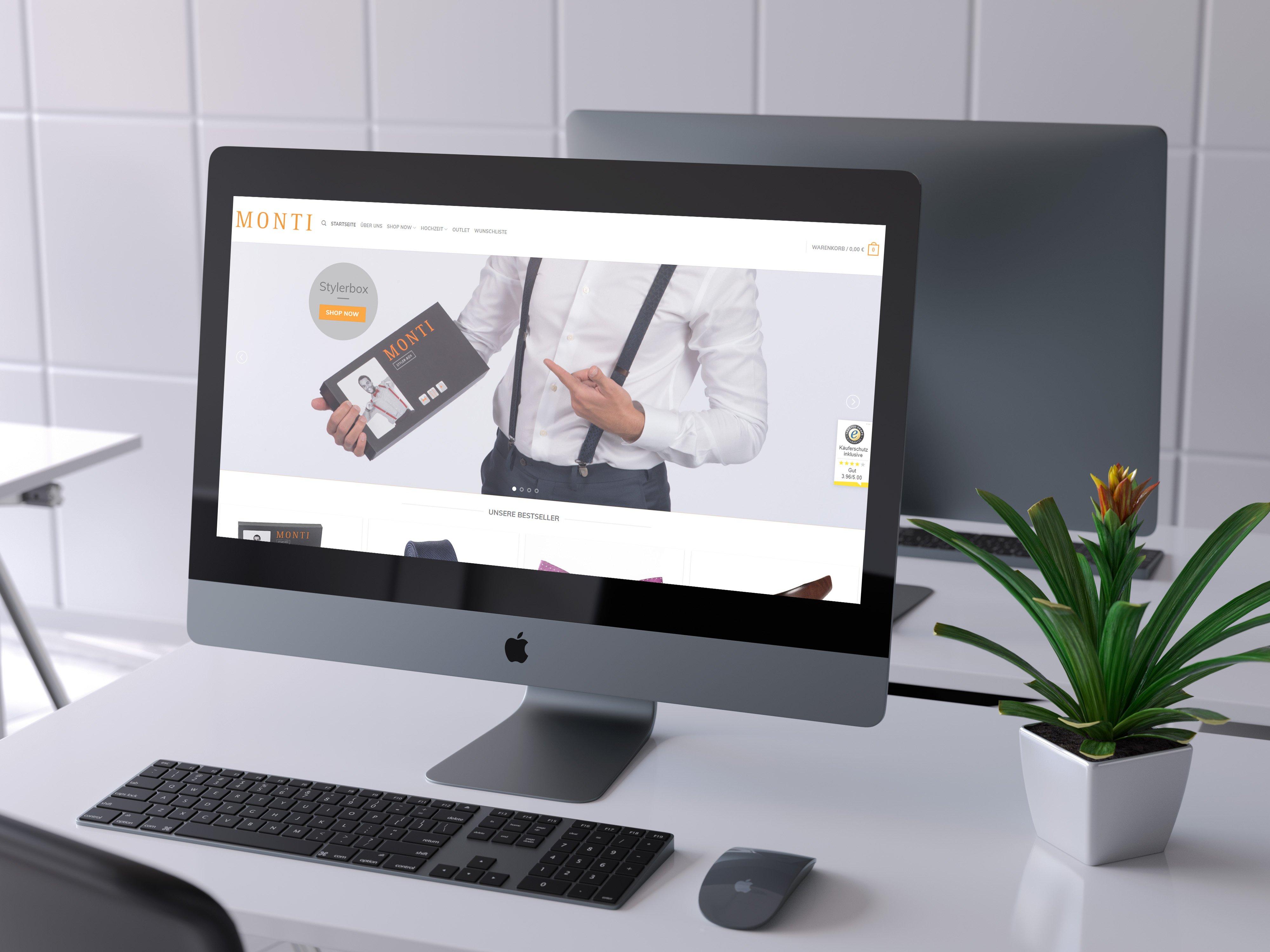 Onlineshopentwicklung in Ulm : Monti-Fashion