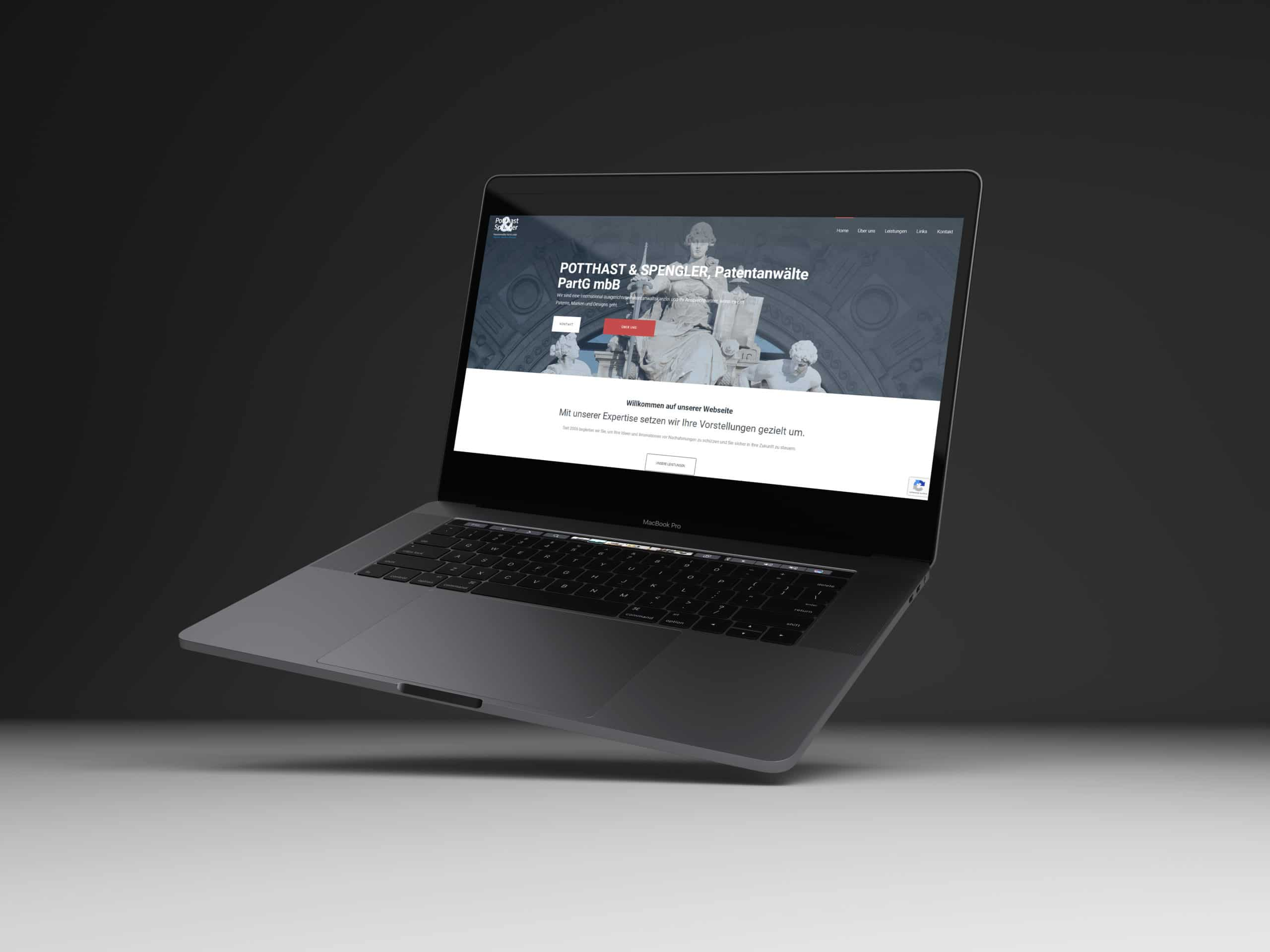 Rechtsanwaelte Webdesign Potthast und Spengler